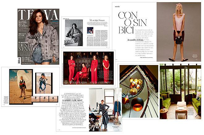 Collage de imágenes revista Telva