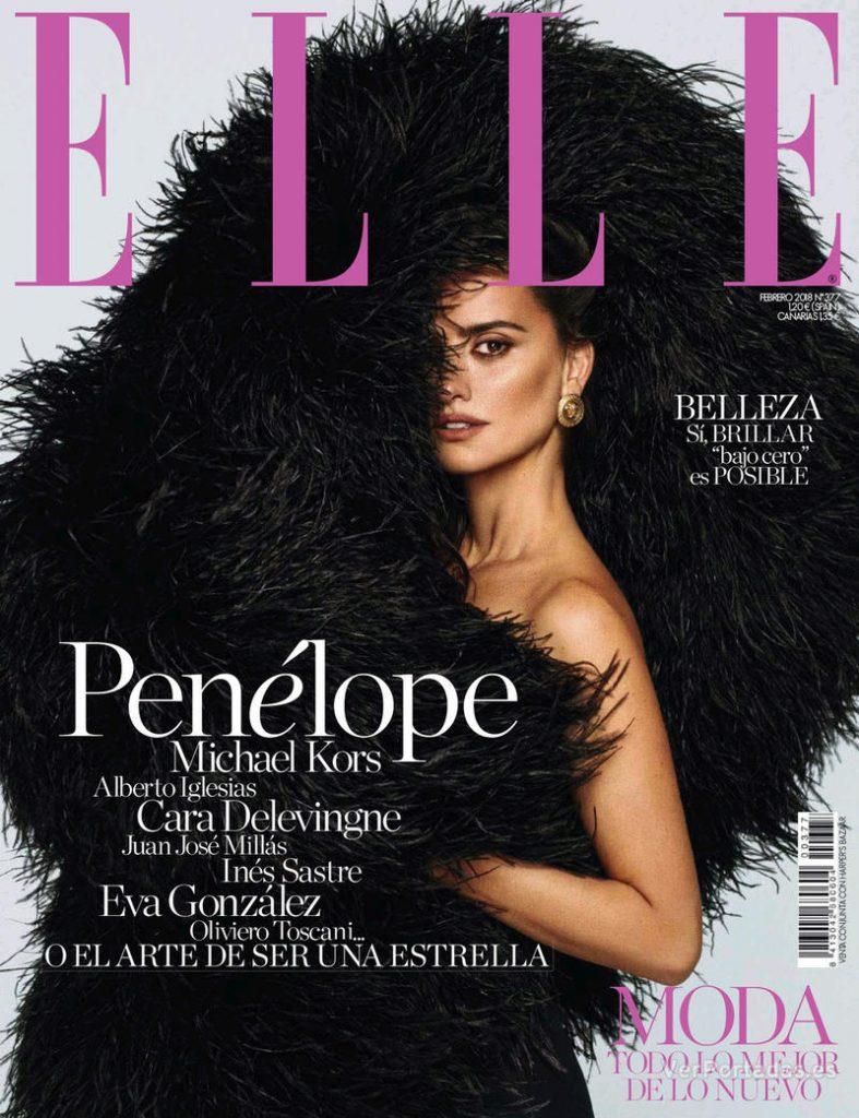 Imagen portada revista Elle Penélope